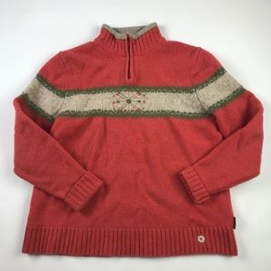 Woolrich Womens Pullover Sweater Lambs Wool L
